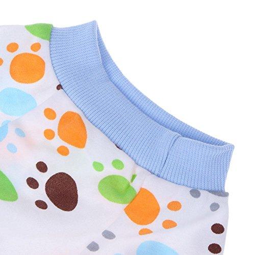 Jumpsuit Puppy Pink XL Strawberry Dress Coat Cartoon Dog L Claw Shirt Pajamas Apparel Blue Clothes Night Pet WAOXgqFq