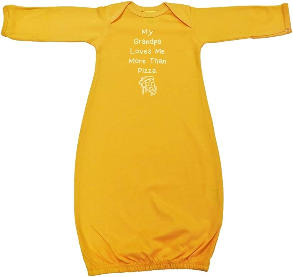 My Grandpa Loves Me More Than Pizza Baby Cotton Sleeper Gown