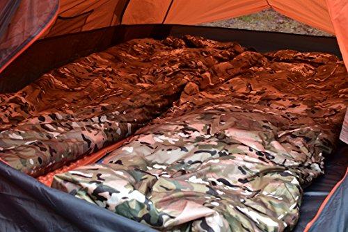 OneTigris Down Sleeping Bag, Lightweight Mummy Bag, Breathable Sleeping Bag (3 Seasons – Camouflage)