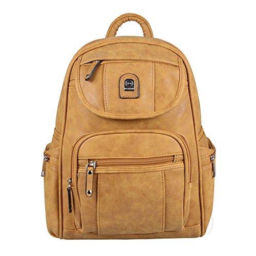 JJ Collection - Bolso mochila para mujer Rosa rosa 26x28x10 cm (BxHxT) Cognac 28x32x15 Cm