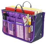 Women Travel Insert Handbag Organiser Purse Organizer Tidy Bag Purple