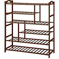 Ollieroo Free Standing Shoe Racks Brown