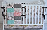 Autumn Fawn Crib Bedding, antlers, deer, fawn, sheet, quilt , skirt