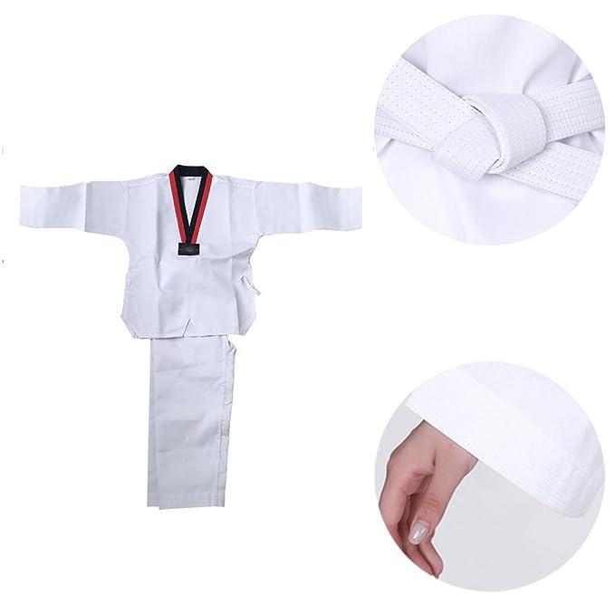 Amazon.com: zevonda Unisex Uniforme de Taekwondo traje de ...