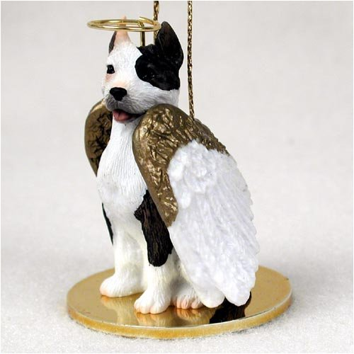 (Pit Bull Terrier Angel Dog Figurine - Brindle)