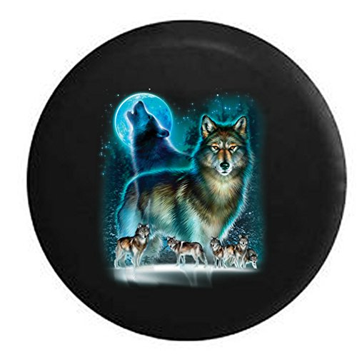 wolf jeep wheel cover - 8