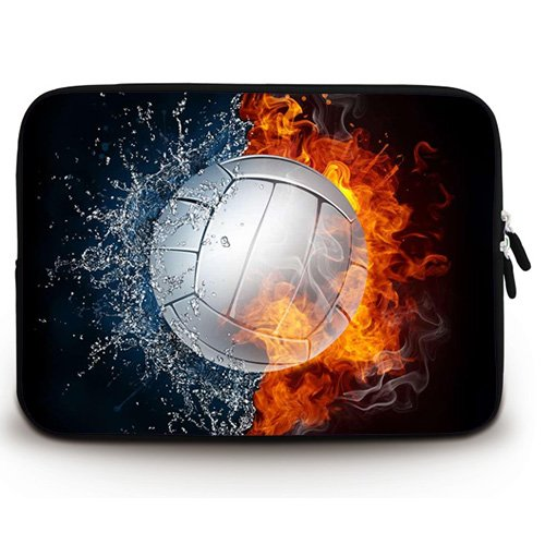 Wondertify 17-17.3 Inch Laptop Sleeve Briefcase Case with Volleyball Between Fire and Water Water-Resistant Neoprene Laptop Carrying Bag for - Skin Laptop Volleyball