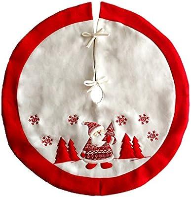 SIMPVALE Árbol de Navidad falda base grande, diseño navideño ...