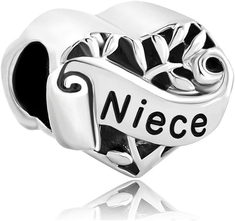 Sterling Silver 3D 1,2 Buckle My Shoe Dangle Charm Bead For Bead Charm Bracelet