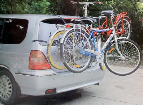 CAR CYCLE CARRIER 3 BICYCLE BIKE RACK UNIVERSAL FITTING SALOON HATCHBACK ESTATE BARGAINS-GALORE