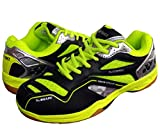 Yonex SRCR CFM Junior Non Marking Badminton Shoes - Black/Lime Green, 4 UK (for Juniors)