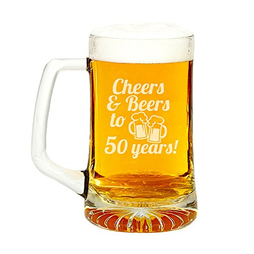 Cheers-Beers-To-50-Years-Engraved-Glass-Beer-Mug-15-ounce