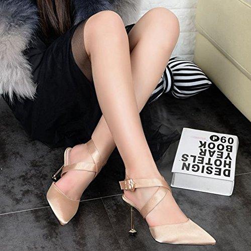 Y Zapatos Hebillas De Y Nuevos CuatroChampagne Zapatos Alto Las Primavera Zapatos Estilo Ojos Sandalias De De ProfundosTreinta Tacon Tacon KHSKX Temperamento Coreano Noche Poco qvwpxUOCBn
