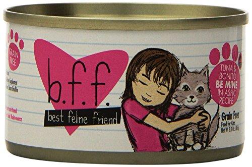 Best Feline Friend Cat Food, Tuna & Bonito Be Mine Recipe, 3-Ounce Can, 12 pack from Weruva