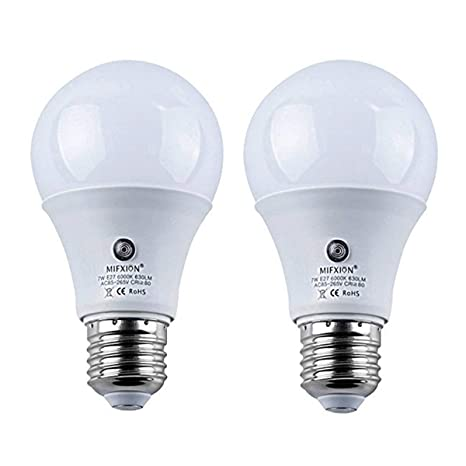 Pack de 2 bombillas LED E27 de 7 W 630 lúmenes, sensor de polvo a