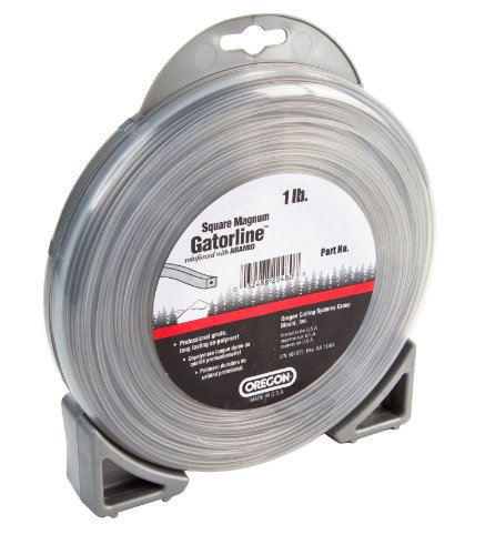 Oregon 22-455 Heavy-Duty Professional Magnum Gatorline Square String Trimmer Line .155-Inch Diameter 1-Pound Donut