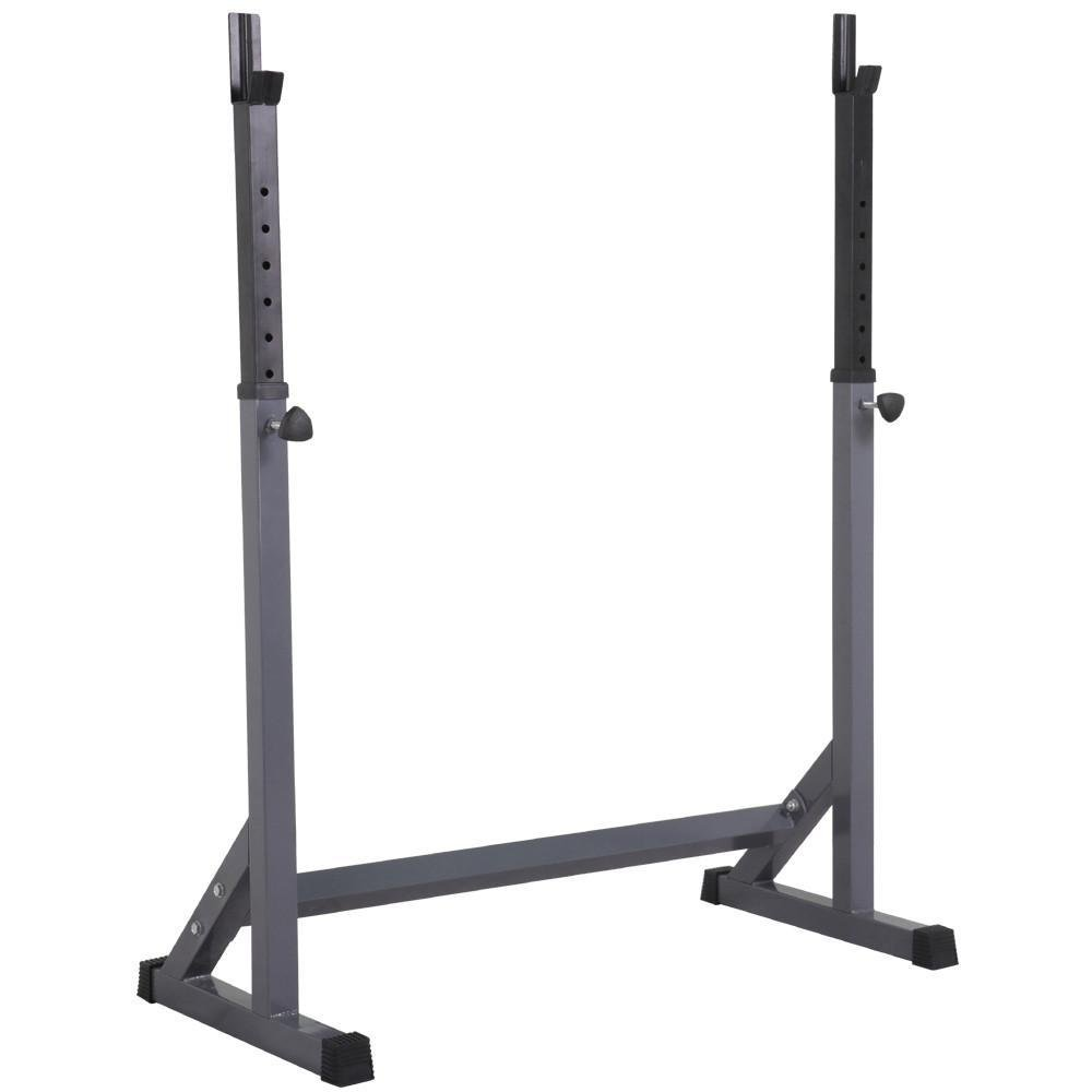 Topeakmart 44.5-72'' Adjustable Squat Rack Dipping Station Barbell Rack Dip Stand Fitness Home&Gym