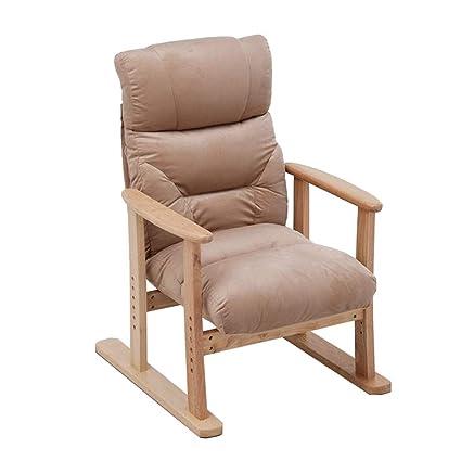 Amazon.com: Silla reclinable de madera maciza, silla ...
