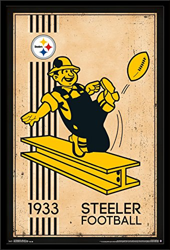 Trends International Wall Poster Pittsburgh Steelers Retro Logo, 22.375 x 34