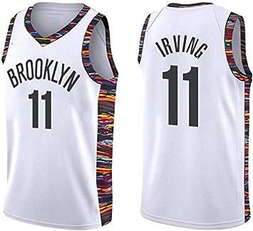 ZOZ Hombre Jersey Kyrie Irving Nets Brooklyn 11 Uniforme de Baloncesto Malla Jersey Camiseta de Baloncesto Talla S-XL: Amazon.es: Deportes y aire libre