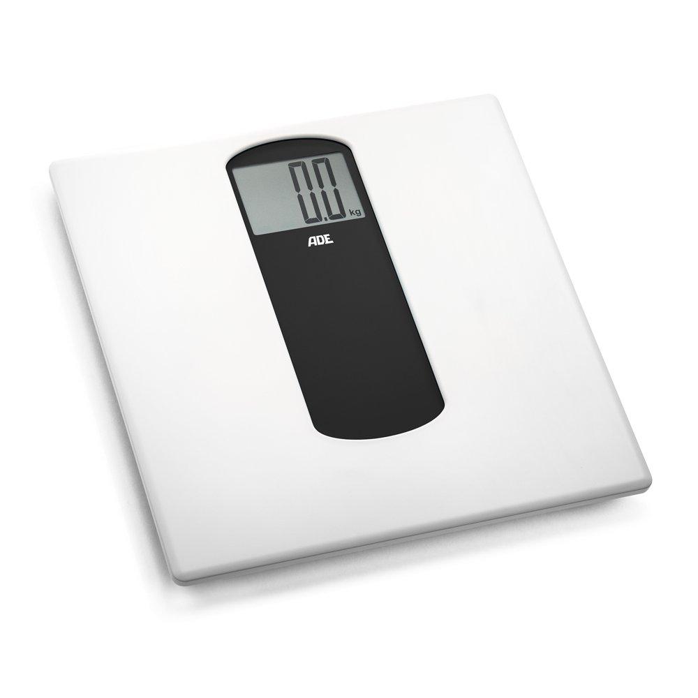 ADE Báscula digital de baño BE1303 Silje. Electrónica con Look decorativo escandinavo y marco en cristal. Capacidad de 180 Kg. Incluye baterías.