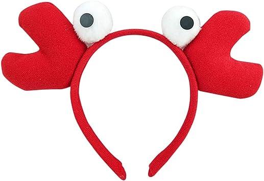 Amosfun Diadema de Cangrejo Sombrero de Pez de Felpa Disfraz ...