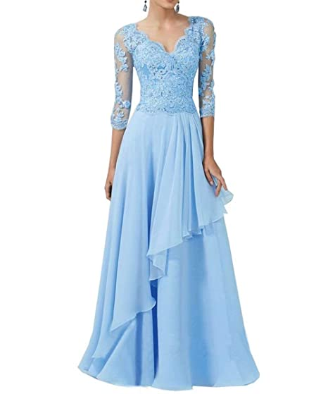abbe094cbf1 RONGKIM Women s V-Neck Mother of The Bride Dresses Lace Appliques Formal  Evening Dress with