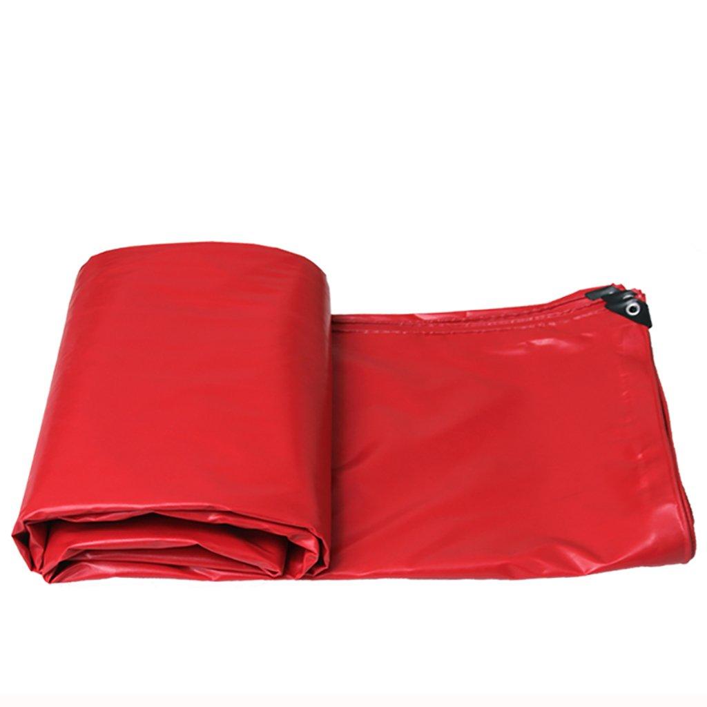 タータリン高強度厚い塩ビ防水トラック区画貨物ヤードヤードテントクロス屋外0.5 mm 520 g/m2赤8サイズ (サイズ さいず : 5*4m) B07DCRFBVP 5*4m  5*4m