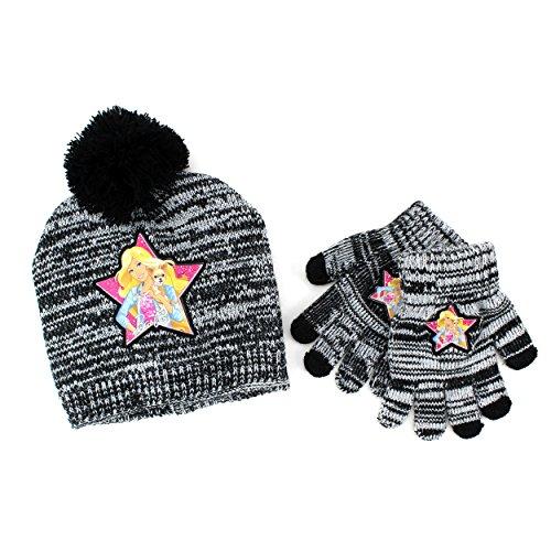 Disney Nickelodeon Mattel Girls Hat and Gloves Set (Black Barbie)