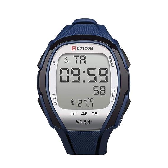 Reloj deportivo digital impermeable con retroiluminación, cronómetro, termómetro, sensor de temperatura