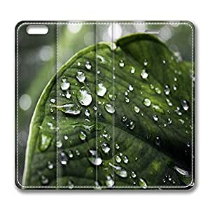 iPhone 6 Plus Case, Fashion Protective PU Leather Flip Case [Stand Feature] Cover Raindrops for New Apple iPhone 6(5.5 inch) Plus