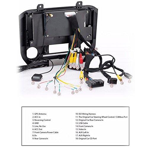 Qiilu 2 DIN 8'' 720P Upgrade HD Car DVD Player GPS Nav Multimedia
