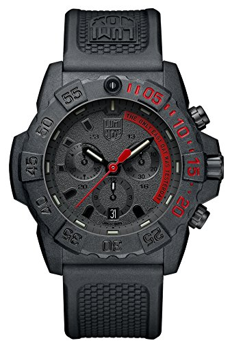 Luminox 3581.EY All Black Mens Watch 3580 Series Navy Seal Chronograph
