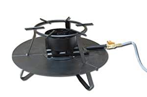 """King Kooker C90NG 12"""" Natural Gas Outdoor Cooker with 5 Jet Pipes, OS Multi"""