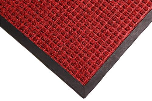 RHINO MATS Commercial-Grade Entrance Mat, Indoor/Outdoor Red Floor Mat, 5' Length x 3' Width, Front Door Mat, for Home and Business (Outdoor Houston Patio Restaurants)