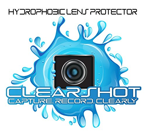 Hydrophobic Lens and Screen Protector for GoPro Hero 5/6/7 Black with Free Silicone Lens Cover ($5.99 Value). Anti-Scratch, Water/Snow Repellent, Touchscreen Compatible, Lasts up to 6 Months.
