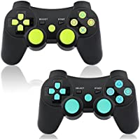 PS3 Controller Wireless 2 Pack Dual Shock Bluetooth...
