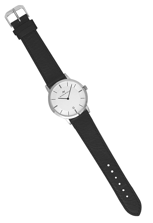 Autran & Viala Plano Pur | Herren-Quarzuhr | Bauhaus-Design | Datum bei 6 Uhr