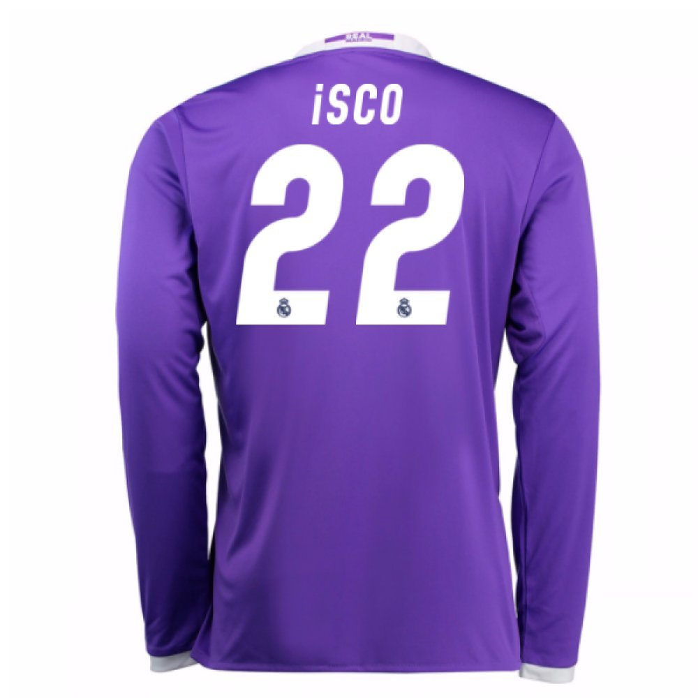 2016-17 Real Madrid Away Shirt (Isco 22) Kids B078CQ2P27Purple Medium Boys 28-30\