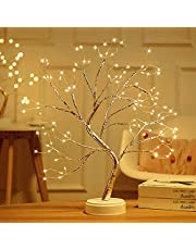 """20"""" Tabletop Bonsai Tree Light with Eight Functions Lighted Tree Copper Wire Tree Lights,DIY Artificial Light Tree Lamp Decoration for Gift Home Wedding Festival Holiday…"""