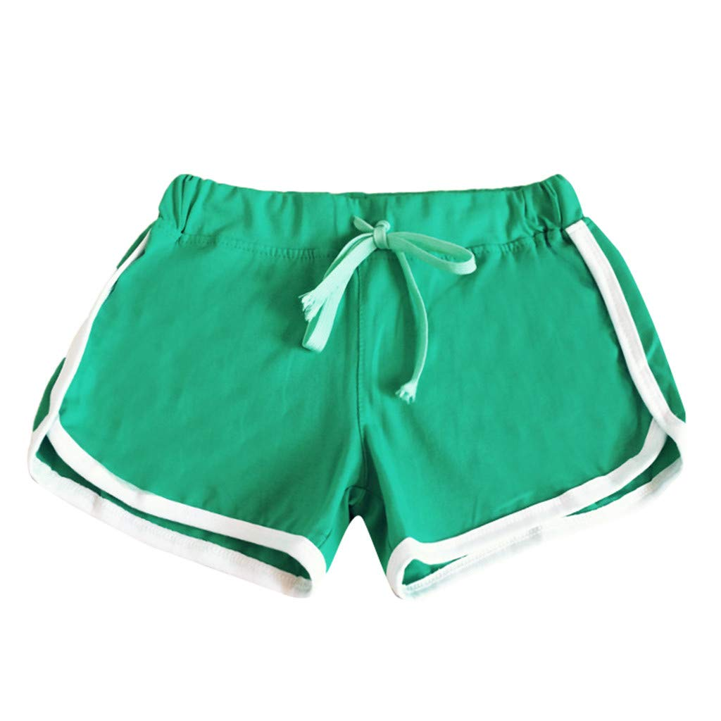 J-paty Women's Plus Size Sport Shorts, Yoga Fitness Training Lightweight Running Casual Loose Drawstring Elastic Waist Pants Green