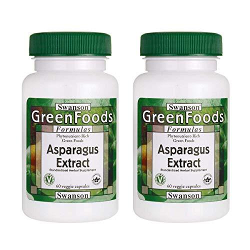 Swanson Asparagus Extract 60 Veg Capsules (2 Pack)