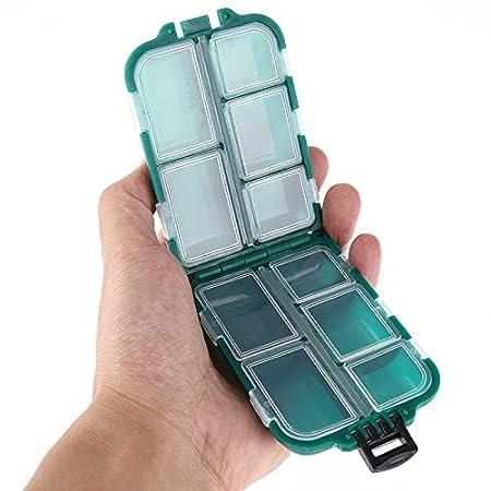 Youlala Fisch Haken Box Kunststoff Angeln K/öder L/öffel Haken K/öder Box Gadget Box