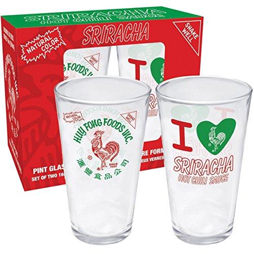 Aquarius Sriracha 2 Pint Glass Set