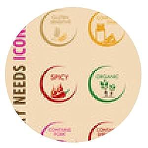 alfombrilla de ratón Necesidades dietéticas especiales Iconos 3 - ronda - 20cm