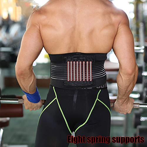 Pads Hockey Knee Junior Goalie (NszzJixo9 SKDK Sports Breathable Padded Weight Lifting Belt 8 Protection Powerlifting Back Support Gym Pad Function Indoor Fitness, Cycling Outdoor, Running Sports (M))