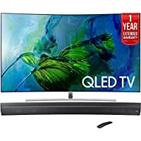 Samsung QN55Q8C Curved 55-Inch 4K Ultra HD Smart QLED TV (2017 Model) + HW-MS6500/ZA Sound+ Curved Premium Soundbar + 1 Year Extended Warranty