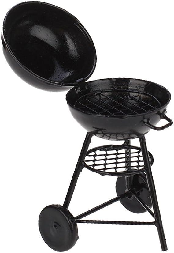 1//12 Dollhouse Pique-nique Grill Miniature Cuisine Barbecue Barbecue Grill