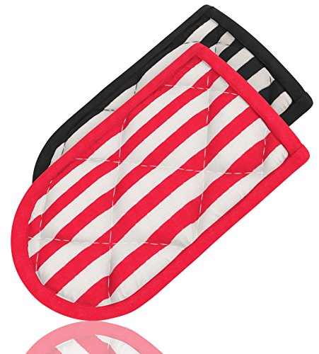 Hot Handle Holders, Striped, Set Of 2, Potholders, for Cast Iron Skillets, Pans, Frying Pans & Griddles, Metal and Aluminum Cookware Handles - Sleeve Grip, Handle Cover