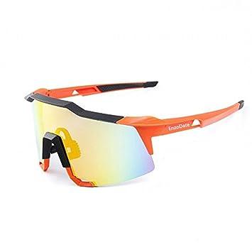 Lunettes de cyclisme 2LS Kit, lunettes de soleil de bicyclette anti-UV, courses de route sports de plein air(bleu)